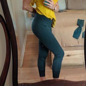 Thick green Lululemon leggings